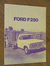1974 Ford F250 original Australian 4 page monochrome brochure