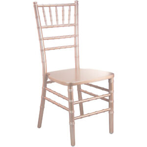 Rose Gold Wood Chiavari Chair - Commercial Quality Stackable Wood Chiavari Chair