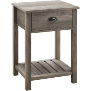"""Walker Edison Furniture Company 18"""" Country Single Drawer Side Table"""