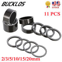 """11PCS Bike Washers Carbon For 1-1//8/"""" Cycle Stem Headset Spacer 2//3//5//10//15//20mm"""