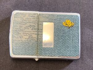 Vintage Zippo Lighter Blue Denim Bumble Bee Lighter