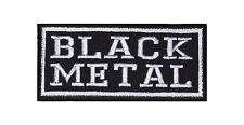 Black Metal Heavy Biker Rocker Patch Aufnäher Bügelbild Musik Kutte Badge T3