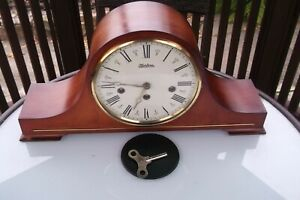 Vintage large Westminster Chimes Mantel Clock Two Jewel 340-020 Hermle movement?