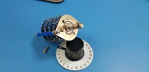 2 Pole 11 Position Rotary Switch 4 Wafers with Knob
