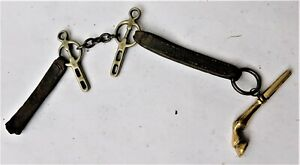 NO RESERVE Horses Hoof Pocket Watch Key and Horse Bit Chain Vintage Antique