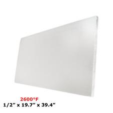 "1/2"" Refractory Ceramic Fiber Insulation Board 2600F 19.7"" x 39.4"""