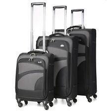 Aerolite Premium Super Lightweight 4 Wheel Spinner Luggage Suitcase Various Size Black 3pc Set
