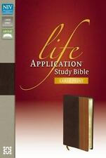 Life Application Study Bible by Zondervan Staff (2013, Leather, Special)