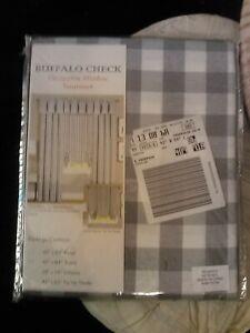 ACHIM~BUFFALO CHECK~WINDOW CURTAIN PANEL~42 in W X 84 in L~GRAY/WHITE CHECK~NIP