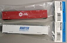 Lot of 2 - HO Scale 949-8521 & 949-8523 HUB GROUP & MARTEN 53' Containers