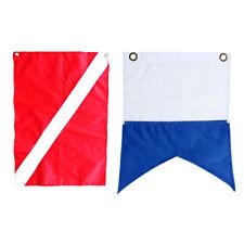 Bannière Drapeau En Nylon Bateau Marqueur Plongée Sous-Marine Rouge Bleu 2x
