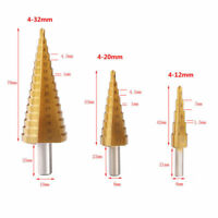 4-12/4-20/4-32mm HSS4241 Fraise Foret Forage à Étage Conique Drill Bit Perçage