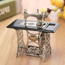 Vintage Look Metal Miniature Sewing Machine For 1/6 1/12 Scale Dollhouse Decor