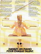 PUBLICITE ADVERTISING 036  1980  le piono Hanlet