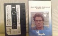 HUEY  LEWIS AND THE NEWS  cassette tape album used  PICTURE THIS  1982 CHRYSALIS