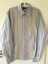 MENS LONG SLEEVED COTTON STIPED SHIRT SIZE 4