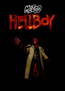 "Mezco Toys Hell Boy 2004 Film Series: HELLBOY (Cigar) 7"" Movie Action Figure"