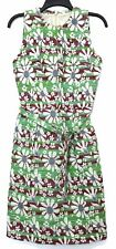 Bottega Veneta Dress Sz 40 US 4 Belted Tapestry Floral Green Brown Silk Couture