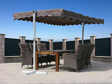 Stand Markise 3,75x2,25m  Terrassenüberdachung Dubai Taupe NEU & OVP