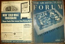 VINTAGE APRIL 1939 ARCHITECTURAL FORUM THE LOW COST HOUSE MODERN DESIGNS HISTORY
