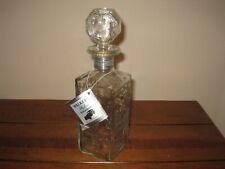 New listing Walker's DeLuxe Bourbon Whiskey License Plate Decanter Empty 4/5 Quart
