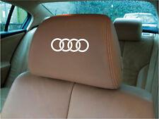 Audi Ring Headrest Decals/Stickers x 5