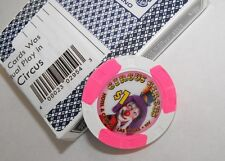 CIRCUS CIRCUS CASINO Las Vegas $1 CLOWN CHIP & Casino Used CARDS