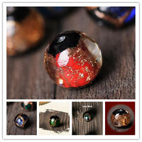 12mm Gold Foil Round Glass Loose Spacer Jinsha Glitter Beads DIY Jewelry Finding