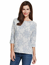 Marks and Spencer Women's Floral Cotton Blend Tops & Shirts