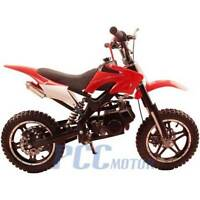 FREE SHIPPING KIDS 49CC 2 STROKE GAS MOTOR DIRT MINI POCKET BIKE RED I DB50X