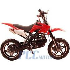 FREE SHIPPING KIDS 49CC 2 STROKE GAS MOTOR DIRT MINI POCKET BIKE RED I DB50X