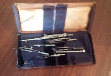 Vintage Technical Supply Co. Scranton PA 8 Piece  Drafting Tools W/Case **LOOK**
