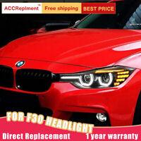 Für BMW 3 Series F30 Scheinwerfer Montage Bi-Xenon Linse Projektor LED DRL 12-16