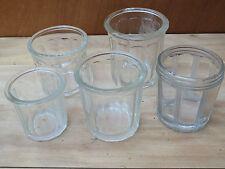 POTS A CONFITURE ANCIENS en verre très épais avec bulles verrines