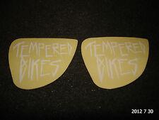 2 Authentic Petites Trempé Vélos BMX Cadre Blanc Autocollants/Decals #24 aufkleber
