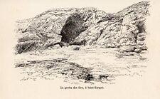SAINT ENOGAT GROTTE DES FEES IMAGE 1885 PRINT