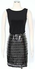Calvin Klein Black Multi Shift Dress Size 4 Beaded Women's Casual New Defect*
