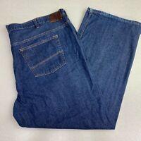 Perry Ellis Denim Jeans Mens 48X30 Blue Straight Leg 100% Cotton Medium Washed