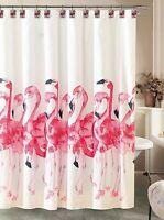 Caribbean Joe Flamingo Flock Shower Curtain One Size Multi