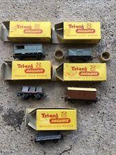 More details for tri-ang tt gauge goods vans & wagons - x5 - coal, fruit, low side, miners, bra