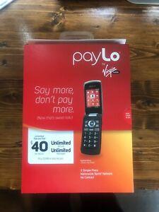 Kyocera Kona S2151 Black Virgin Mobile Prepaid Flip Phone