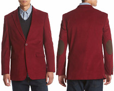 Tommy Hilfiger Reg Willow Red Slim-Fit Stretch Corduroy/Brown Patch Sport Coat