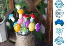 30pcs Miniature Rainbow Mushrooms Fairy Garden Terrarium Bonsai Crafts Dollhouse