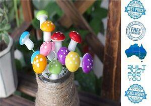 50 pcs Miniature Rainbow Mushrooms Fairy Garden Terrarium Bonsai DollHouse