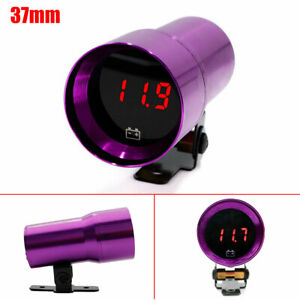 37mm Digital Voltage Gauge Compact Micro Digital Smoked Lens Volt Battery Gauge