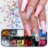 3D Butterfly Flakes Nail Glitter Sequins Holographic Laser Nail Decoration