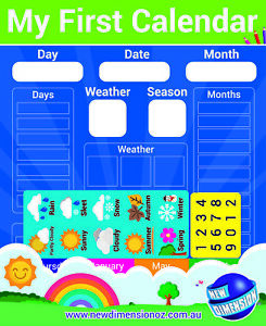 Magnetic My First Calendar and Weather Chart New Dimension