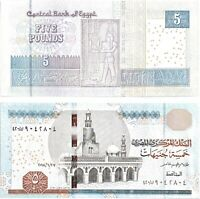 2017 Egypt 5 LE Pounds Uncirculated Crisp Egyptian Note