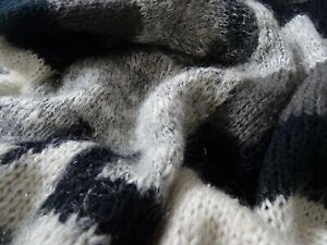 Mohair Strickjacke Cardigan Gr. XL Handstrick dicke Qualität Neu