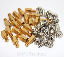 20x 6.5mm Brass Standoff 6-32 - M3 PC Case Motherboard Riser + Screws